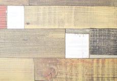 Parquet dipinto del faux come plance colorate Fotografie Stock Libere da Diritti