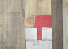 Parquet dipinto del faux come plance colorate Immagine Stock Libera da Diritti