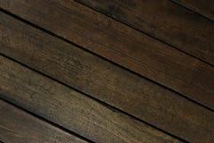 Parquet en bois placé le long d'une diagonale Images libres de droits