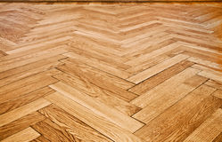 Parquet floor. A beautiful oak parquet floor from 1939 Royalty Free Stock Photos