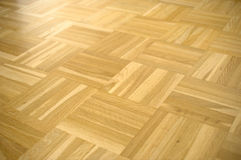 Parquet floor. Real wooden floor stock photography