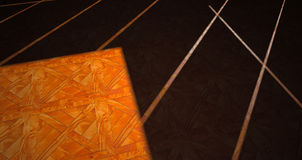 Parquet Floor With Geometric Shadow Stock Images