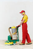 Parquet floor maintenance polishing Stock Photography