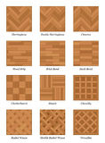 Parquet Floor Pattern Set Parquetry Royalty Free Stock Images