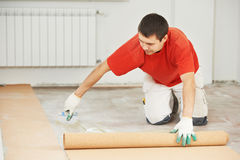 Parquet Floor work with Royalty Free Stock Images