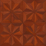 Mahogany Parquet flooring design seamless texture Stock Photos