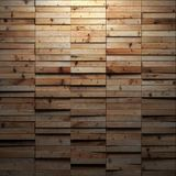 Parquet glows from above. Volume natural parquet planks glows from above background Stock Photo