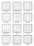 Parquet Patterns Collection Outline Illustration Royalty Free Stock Photography