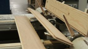 Parquet production. Industrial factory. stock video
