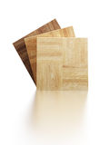 Parquet samples Stock Image