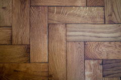 Parquet texture detail. Close-up picture of parquet, natural light Royalty Free Stock Photos
