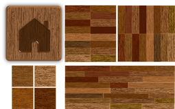 Parquet vector illustration Royalty Free Stock Images