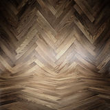 Parquet wood texture - Room covered with wooden planks - Wooden floor and walls. Royalty Free Stock Photos