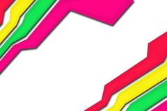 Parrallel colorful lines, abstract background Royalty Free Stock Images