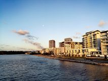 Parramatta River @ Rhodes, Sydney Australia. Parramatta River and Rhodes city view in Rhodes, Sydney NSW Australia Stock Photo