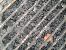 Parrilla con carbon. Grill with charcoal. royalty free stock photography