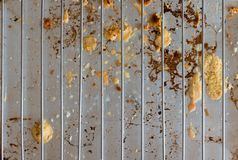 Parrilla con los residuos de queso imagen de archivo