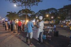 Parrilla de la noche en la ciudad de piedra Zanzíbar Fotos de archivo
