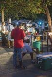 Parrilla de la noche en la ciudad de piedra Zanzíbar Fotografía de archivo