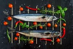 Parrilla de los pescados Imagenes de archivo
