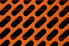 Parrilla de radiador anaranjada Fotografía de archivo libre de regalías