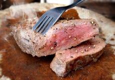 Parrilla del filete de carne de vaca del hecho Imagen de archivo libre de regalías