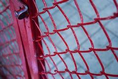 Parrilla del metal con la cerradura Fotografía de archivo