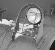 Parrilla protectora para la linterna del coche, blanco y negro Imagen de archivo