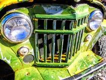 Parrilla verde del camión Imagen de archivo libre de regalías