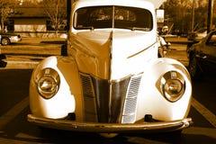 Parrilla vieja antigua del coche fotografía de archivo
