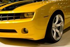 Parrilla y luces del coche de deportes Imagen de archivo libre de regalías