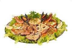 Parrillada de pescado y marisco Stock Images