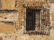 Parrillas de ventana del metal, viejas Foto de archivo