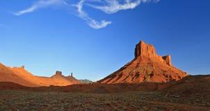 Parriott Mesa和Castle Rock 库存图片