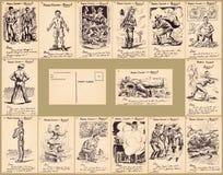 Parris Island Boot Camp Postcard-Inzamelingen Royalty-vrije Stock Afbeeldingen