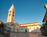 Parrish kyrka av Kristi födelsen av oskulden på Mali Losinj Arkivbilder