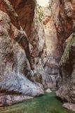 Parrizal在贝塞特,自然保护, Matarrana河,赞成特鲁埃尔省 库存图片