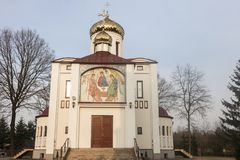 Parrocchia ortodossa della st Cyril e Methodius in Biala Podlaska Fotografie Stock Libere da Diritti