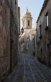 Parrocchia San Michele Arcangelo i Erice, Trapani italy sicily Fotografering för Bildbyråer