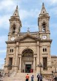 Parrocchia Santuario -大教堂SS Cosma E达米亚诺,阿尔贝罗贝洛,意大利 免版税库存照片