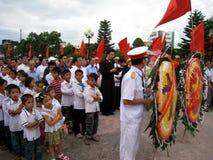Parroci e parrocchiani in una commemorazione di coloro che Fotografia Stock