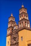 Parroquia大教堂钟楼德洛丽丝绅士墨西哥 免版税库存图片