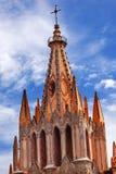 Parroquia天使教会十字架圣米格尔德阿连德墨西哥 图库摄影