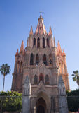 Parroquia Archangel Church San Miguel Mexico Royalty Free Stock Photos