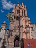 Parroquia de San Miguel Arcangel i San Miguel de Allende, Mexico Arkivfoton