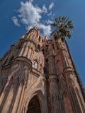 Parroquia de San Miguel Arcangel i San Miguel de Allende, Mexico Royaltyfria Foton