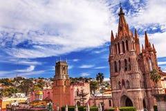 Parroquia Rafael kościół San Miguel De Allende Meksyk Zdjęcia Stock