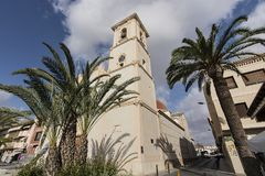 The Parroquia San Francisco Javier church San Javier, Region of Murcia, Spain royalty free stock photo