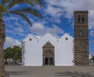 Parroquiade Nuestra Seiiora de Candelaria La Oliva Fuerteventura Las Palmas kanariefågelöar Spanien Royaltyfri Bild