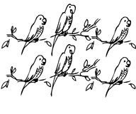 Parrot. The black-and-white image of parrot royalty free illustration